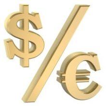 Евро укрепляется к доллару США