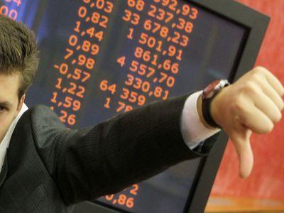 Рынок акций падает вместе с рублем