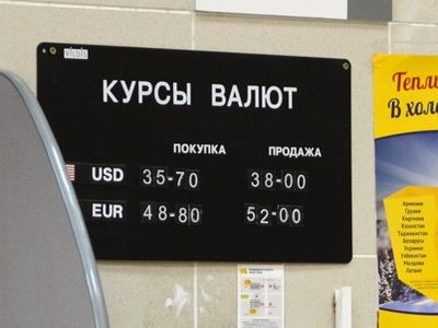 Курсы валют в обменном пункте
