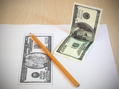 Доллар как на рисовали