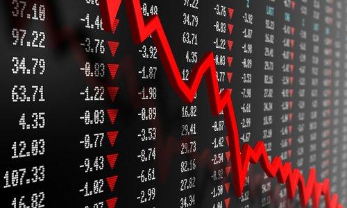 Цена акции идет вниз
