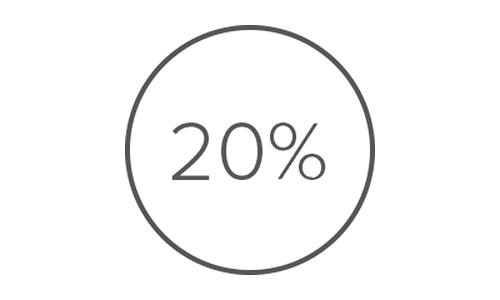 20 процентов