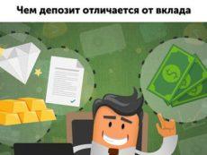 В чем отличие между вкладами и депозитами