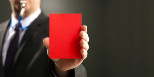 Красная карточка коллектору