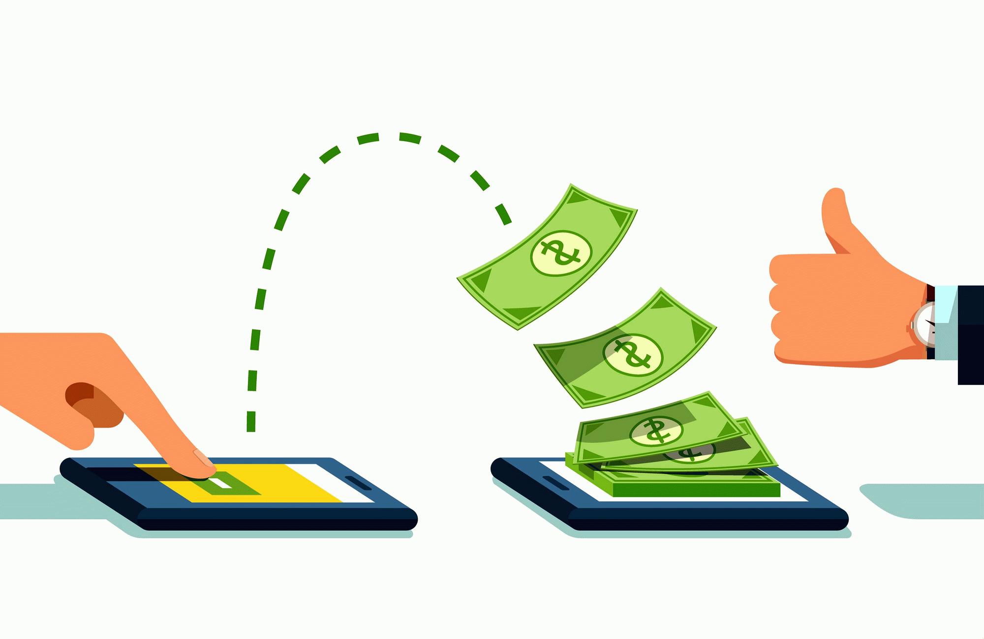 Денежный перевод с банковской карты на банковскую карту